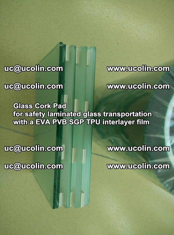 Glass Cork Pad for safety laminated glass transportation with a EVA PVB SGP TPU interlayer film (148)