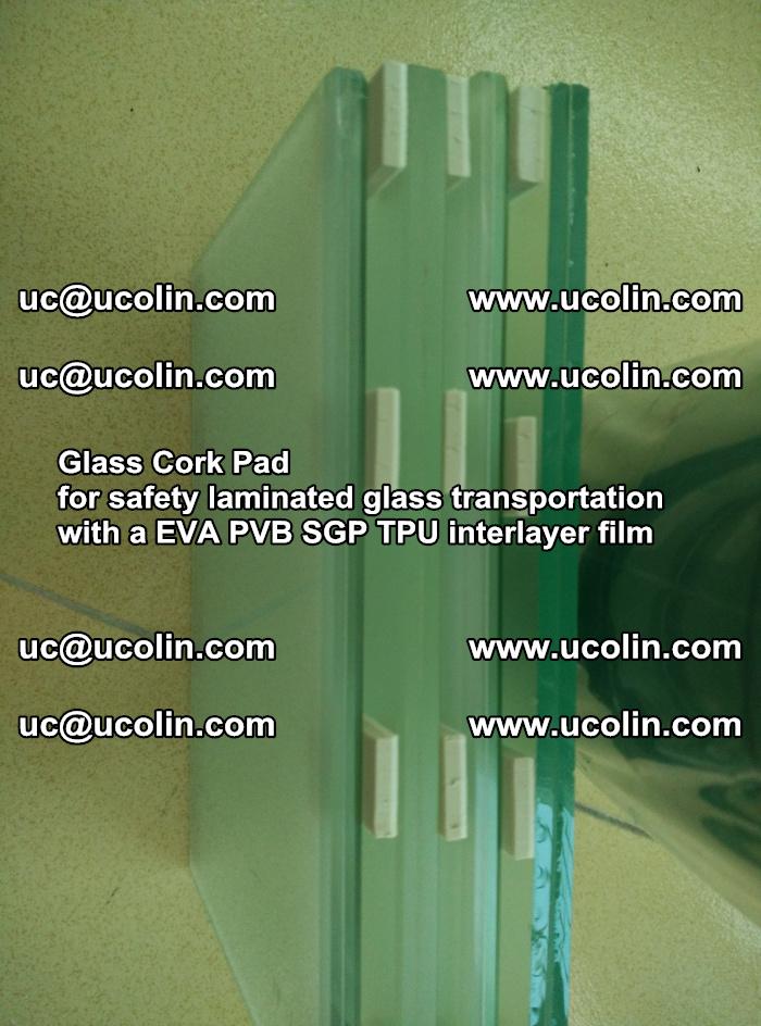 Glass Cork Pad for safety laminated glass transportation with a EVA PVB SGP TPU interlayer film (50)