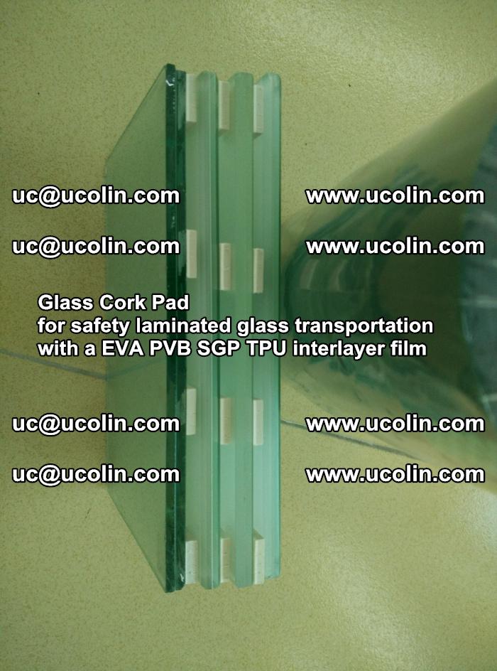 Glass Cork Pad for safety laminated glass transportation with a EVA PVB SGP TPU interlayer film (9)