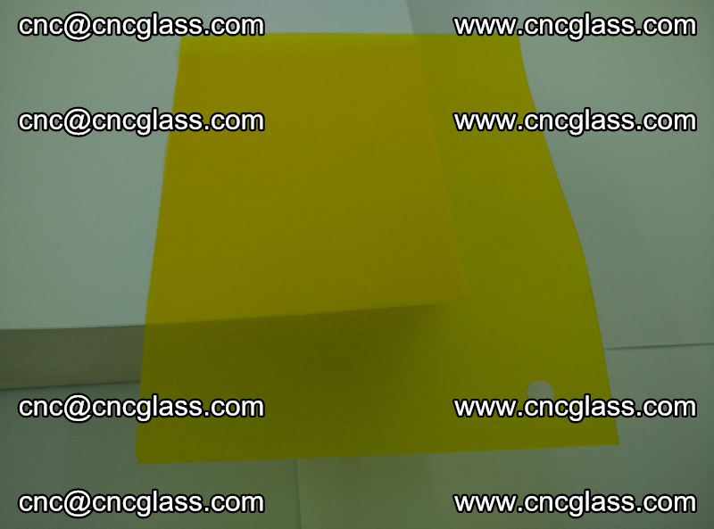 Eva glass laminating interlayer foil film Transparent clear color (lemon yellow membrane) (2)