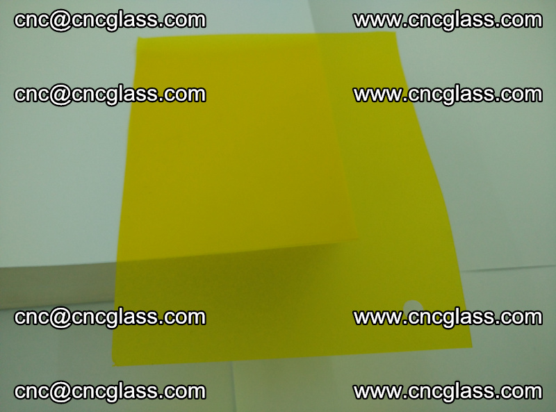 Eva glass laminating interlayer foil film Transparent clear color (yellow lemon) (11)