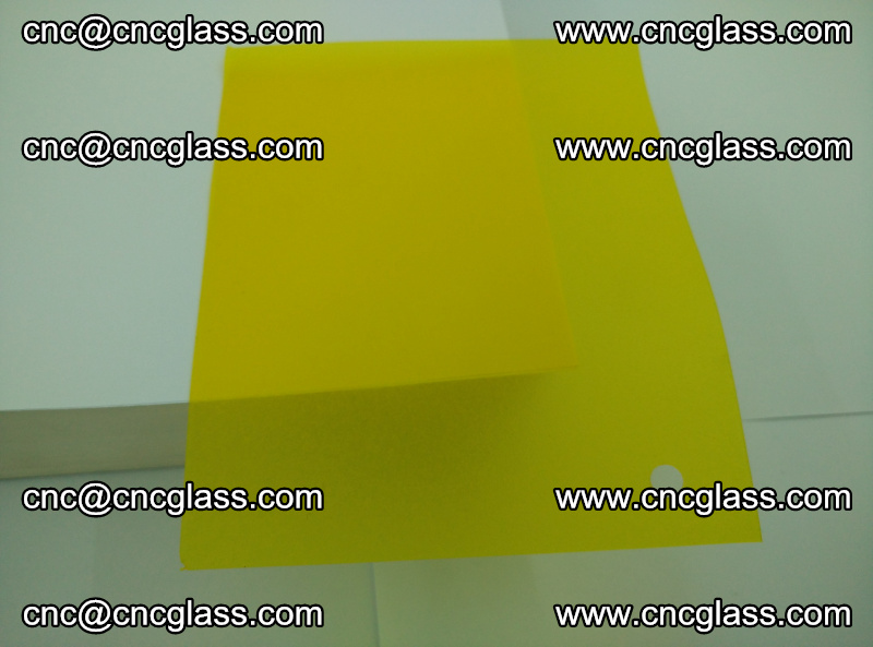 Eva glass laminating interlayer foil film Transparent clear color (yellow lemon) (12)