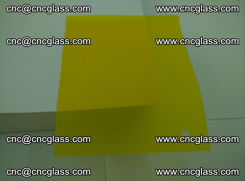 Eva glass laminating interlayer foil film Transparent clear color (yellow lemon) (15)