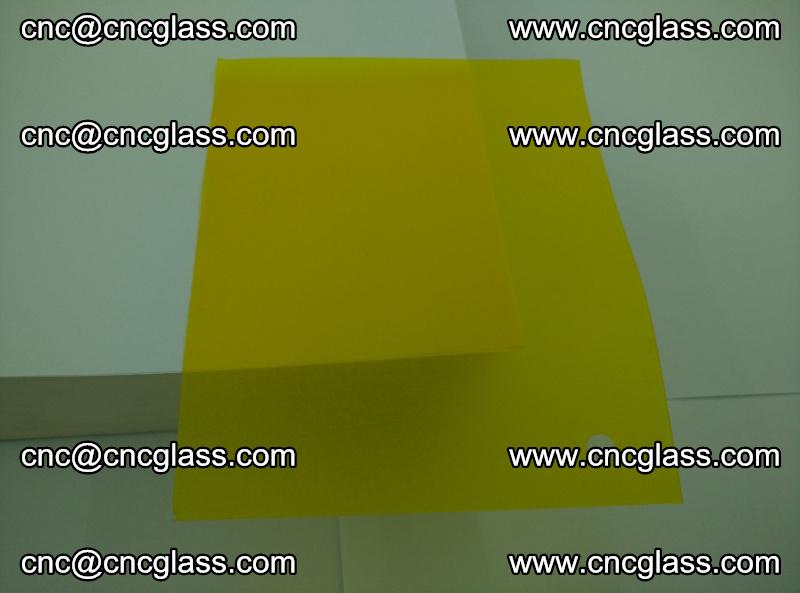 Eva glass laminating interlayer foil film Transparent clear color (yellow lemon) (16)