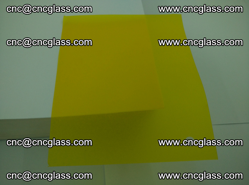 Eva glass laminating interlayer foil film Transparent clear color (yellow lemon) (20)