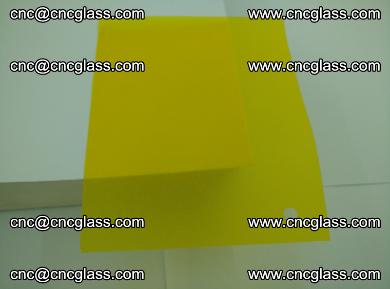 Eva glass laminating interlayer foil film Transparent clear color (yellow lemon) (5)