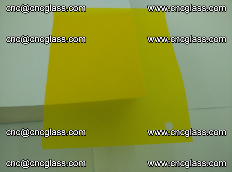 Eva glass laminating interlayer foil film Transparent clear color (yellow lemon) (6)