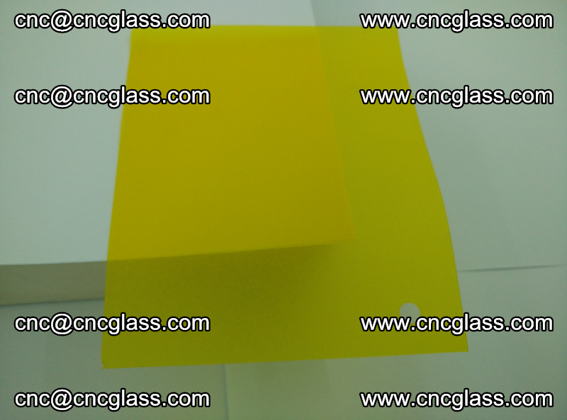 Eva glass laminating interlayer foil film Transparent clear color (yellow lemon) (7)